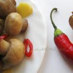 Рецепт острых маринованных шампиньонов с имбирем