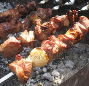 Рецепт шашлыка из свинины в томатном соке